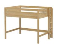 Maxtrix HIP Mid Loft Bed Full Size Natural | Maxtrix Furniture | MX-HIP-NX