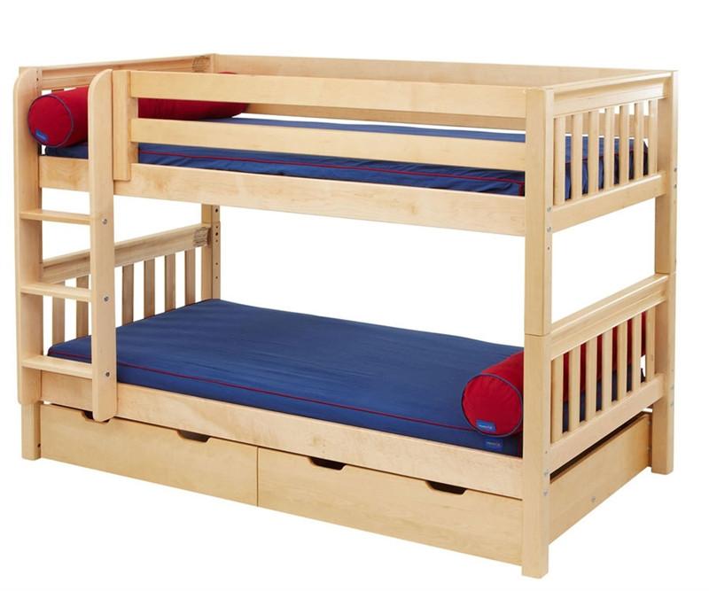 Maxtrix Kids Low Bunk Bed With Optional Curtains Hot Hot Matrix