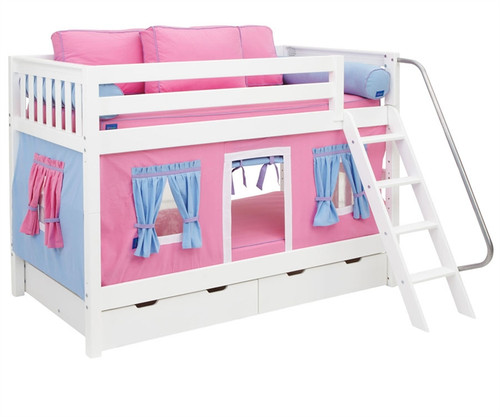 Maxtrix Low Bunk Bed With Curtains | Maxtrix Furniture | MX HOTSHOT CT