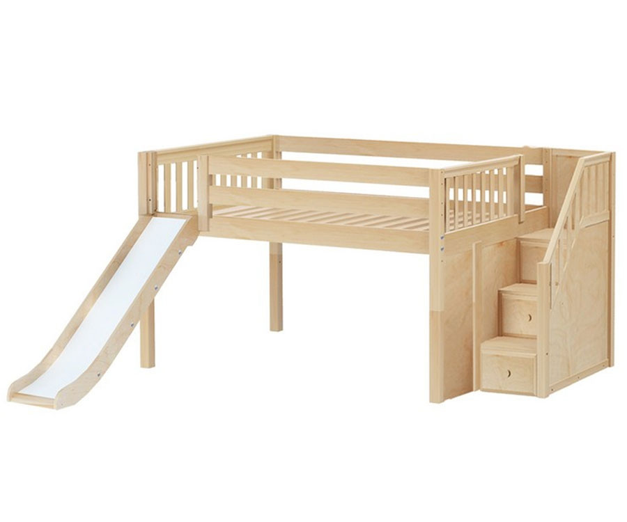 Maxtrix Kapow Low Loft Bed With Stairs Matrix Kids