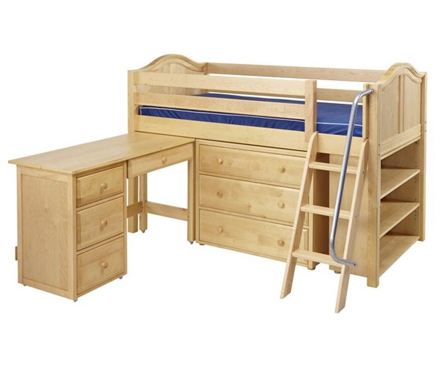 Maxtrix Kicks3l Low Loft Bed With Desk Matrix Kids