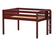 Maxtrix KIT Low Loft Bed Full Size Chestnut | Maxtrix Furniture | MX-KIT-CX