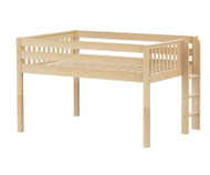 Maxtrix KIT Low Loft Bed Full Size Natural | Maxtrix Furniture | MX-KIT-NX