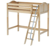 Maxtrix KNOCKOUT High Loft Bed Twin Size Natural | Maxtrix Furniture | MX-KNOCKOUT-NX