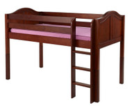 Maxtrix LOW RIDER Low Loft Bed Twin Size Chestnut | Maxtrix Furniture | MX-LOWRIDER-CX