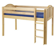 Maxtrix LOW RIDER Low Loft Bed Twin Size Natural | Maxtrix Furniture | MX-LOWRIDER-NX