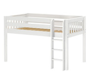 Maxtrix LOW RIDER Low Loft Bed Twin Size White | Maxtrix Furniture | MX-LOWRIDER-WX
