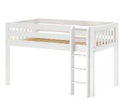 Maxtrix LOW RIDER Low Loft Bed Twin Size White   Maxtrix Furniture   MX-LOWRIDER-WX