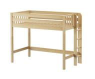 Maxtrix MACK Mid Loft Bed Twin Size Natural | Maxtrix Furniture | MX-MACK-NX