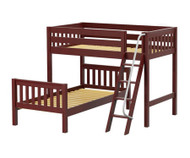 Maxtrix MASH L-Shaped Bunk Bed Twin Size Chestnut | Maxtrix Furniture | MX-MASH-CX
