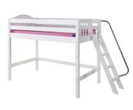 Maxtrix PACK Mid Loft Bed Twin Size White | Maxtrix Furniture | MX-PACK-WX