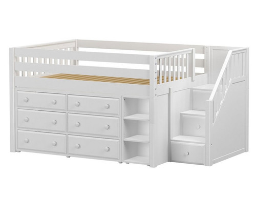 Maxtrix Perfect1 Storage Low Loft Bed With Stairs Matrix