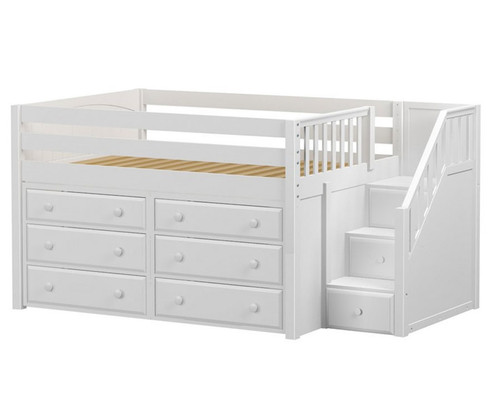 Maxtrix PERFECT3 Storage Low Loft Bed with Stairs | Matrix Kids ...