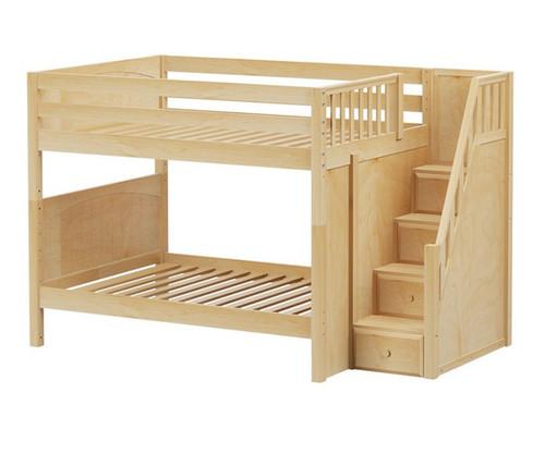 Maxtrix Quasar Medium Bunk Bed With Stairs Matrix Kids