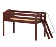 Maxtrix RIGHT Low Loft Bed Twin Size Chestnut | Maxtrix Furniture | MX-RIGHT-CX