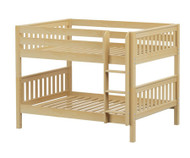 Maxtrix SLURP Low Bunk Bed Full Size Natural | Maxtrix Furniture | MX-SLURP-NX