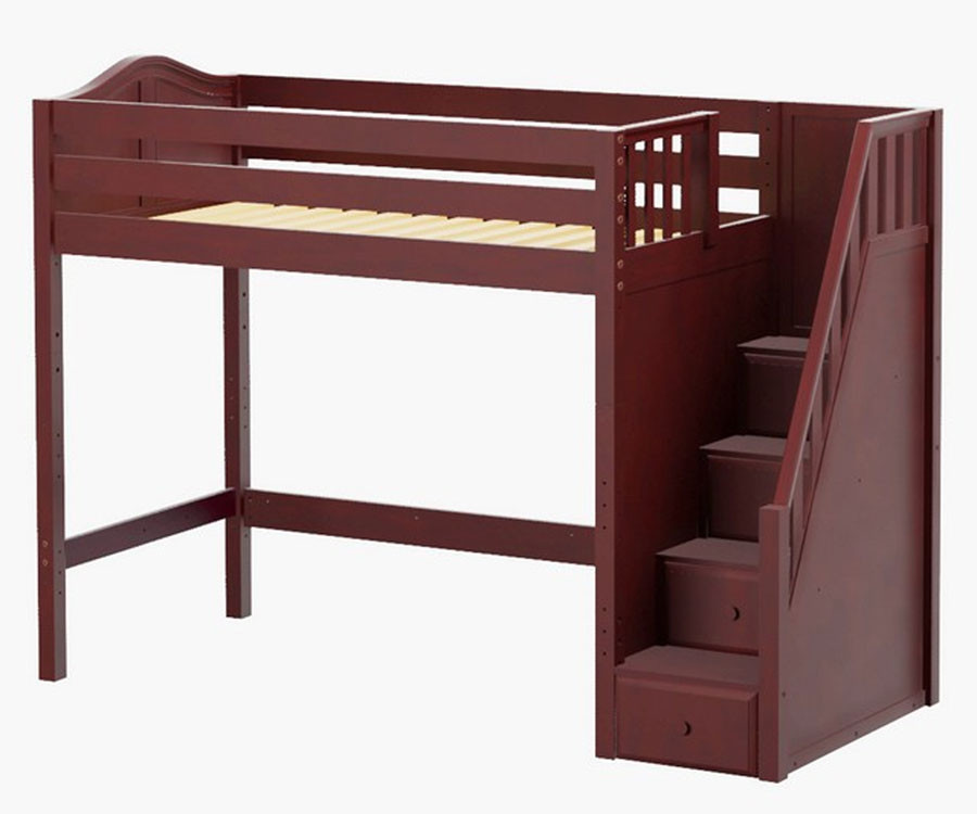 Maxtrix STAR High Loft Bed with Stairs | Matrix Kids Furniture ...