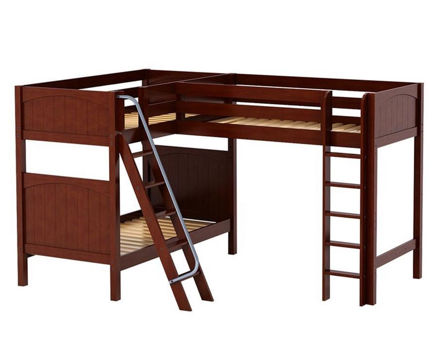Maxtrix Trio Corner High Loft Bunk Bed Matrix Kids Furniture