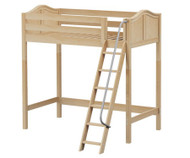 Maxtrix KNOCKOUT Ultra-High Loft Bed Twin Size Natural | Maxtrix Furniture | MX-ULTRAKNOCKOUT-NX