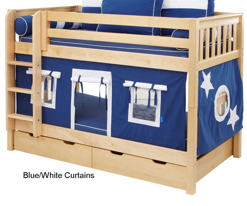 Maxtrix Bunk Bed Tents For Kids Blue And White 3220 022 By Maxtrix