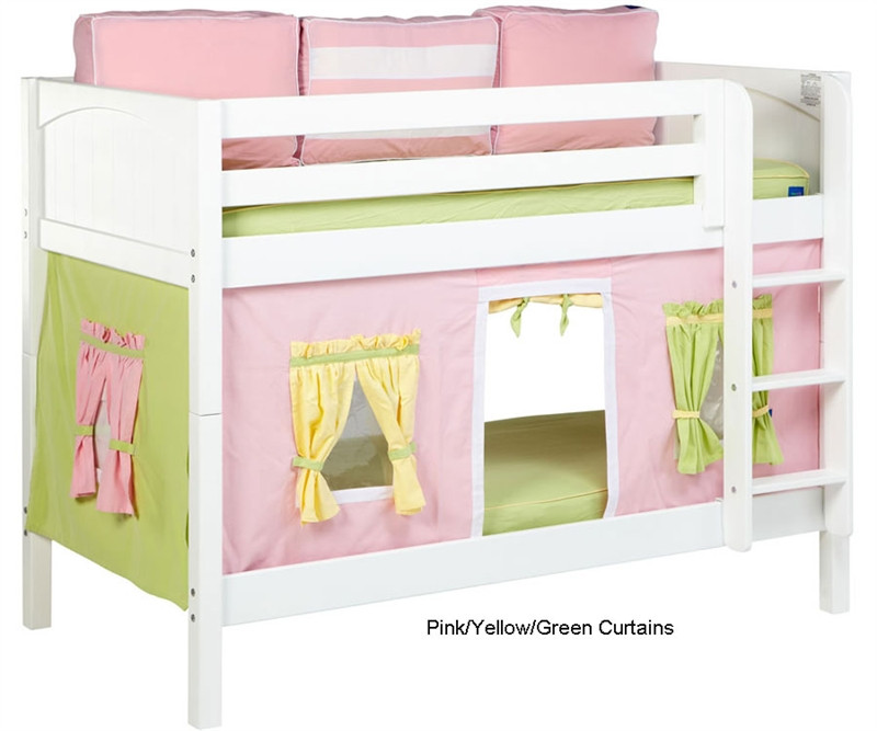 Maxtrix Bunk Bed Tents For Kids Pink Green And Yellow 3220 025 By