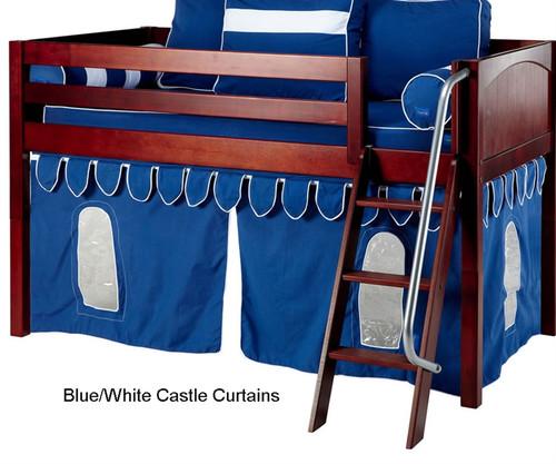 Good Bunk Bed Curtains Blue U0026 White Castle | Maxtrix | MX3220 026