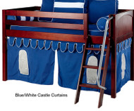 Bunk Bed Curtains Blue & White Castle | Maxtrix | MX3220-026