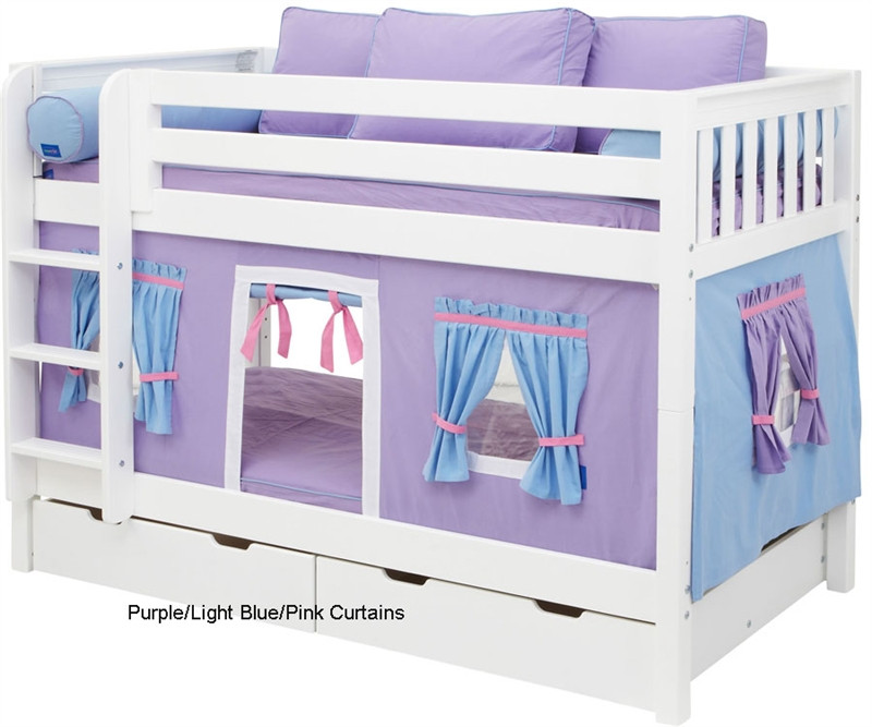 Maxtrix Bunk Bed Tents For Kids Purple Light Blue And Hot Pink