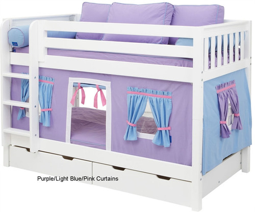 Maxtrix Bunk Bed Tents For Kids Purple Light Blue And
