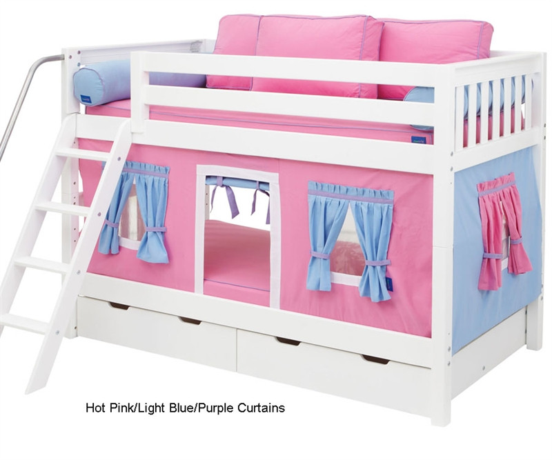 Maxtrix Bunk Bed Tents For Kids Pink Light Blue Purple 3220 028