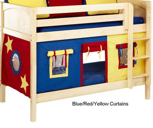 Bunk Bed Curtains Blue, Red & Yellow | Maxtrix | MX3220-029 - Maxtrix Bunk Bed Tents For Kids Red, Blue And Yellow 3220-029 By