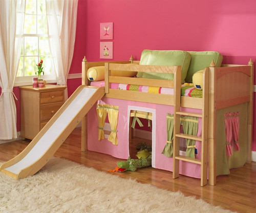 Maxtrix Low Loft Bed W Slide Curtains