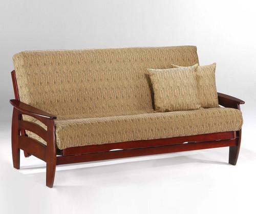 Corona Futon Sofa Rosewood | Night And Day Furniture | ND Corona RW