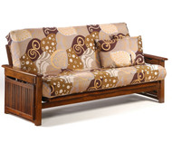 Raindrop Futon Sofa Black Walnut   Night and Day Furniture   ND-Raindrop-BW