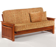 Raindrop Futon Sofa Cherry | Night and Day Furniture | ND-Raindrop-Ch