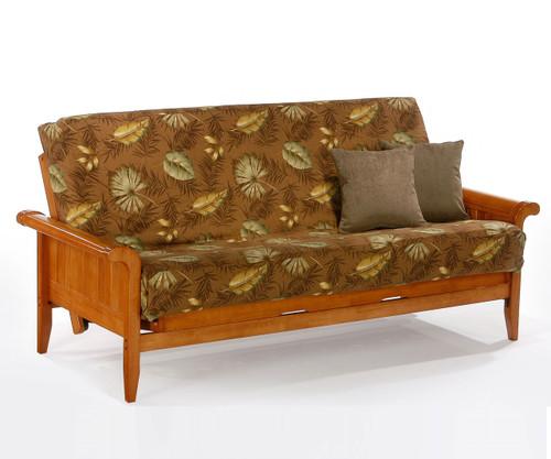 Venice Futon Sofa Honey Oak   Night and Day Furniture   ND-Venice-HO