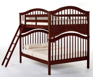 School House Jordan Full over Full Bunk Bed Cherry | NE Kids | NE-4015BUNK