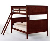 School House Casey Full over Full Bunk Bed Cherry | NE Kids | NE-4025BUNK
