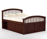 School House Full Size Captains Bed Cherry | NE Kids | NE-4075