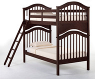 School House Jordan Bunk Bed Chocolate | NE Kids | NE-5010BUNK