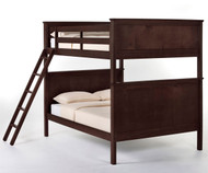 School House Casey Full over Full Bunk Bed Chocolate | NE Kids | NE-5025BUNK