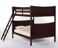 School House Taylor Full over Full Bunk Bed Chocolate   NE Kids   NE-5035BUNK