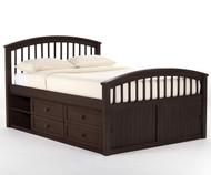 School House Full Size Captains Bed Chocolate | NE Kids | NE-5075