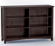 School House Wide Bookcase Chocolate | NE Kids Furniture | NE-5568