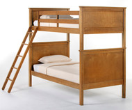 School House Casey Bunk Bed Pecan | NE Kids | NE-6020BUNK