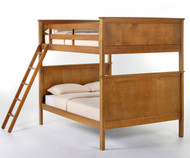 School House Casey Full over Full Bunk Bed Pecan | NE Kids | NE-6025BUNK
