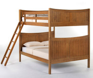 School House Taylor Full over Full Bunk Bed Pecan | NE Kids | NE-6035BUNK