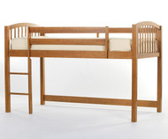 School House Junior Low Loft Bed Pecan | NE Kids | NE-6060