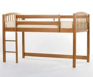 School House Junior Low Loft Bed Pecan   NE Kids   NE-6060