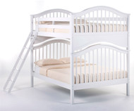 School House Jordan Full over Full Bunk Bed White | NE Kids | NE-7015BUNK